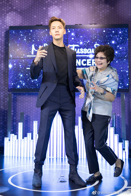William Chan and Mom Beijing Madame Tussauds
