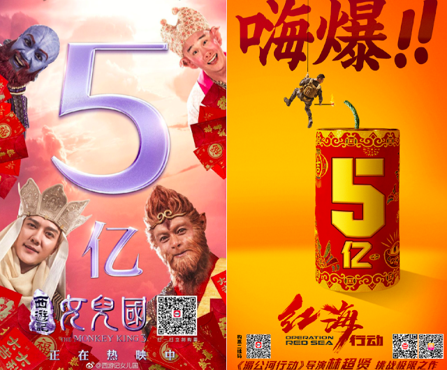 Monkey King 3 box office CNY 2018