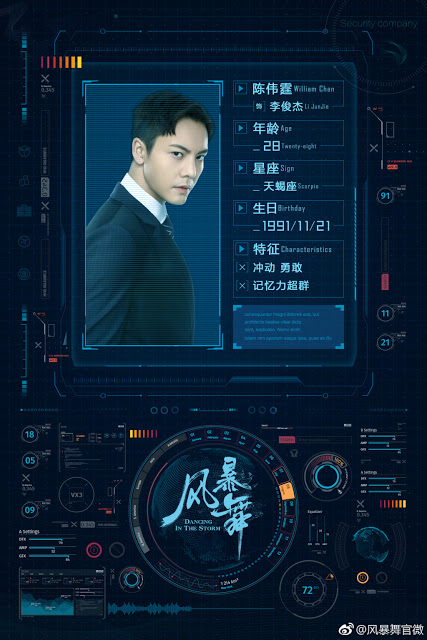 Dancing in the Storm Chinese TV series William Chan