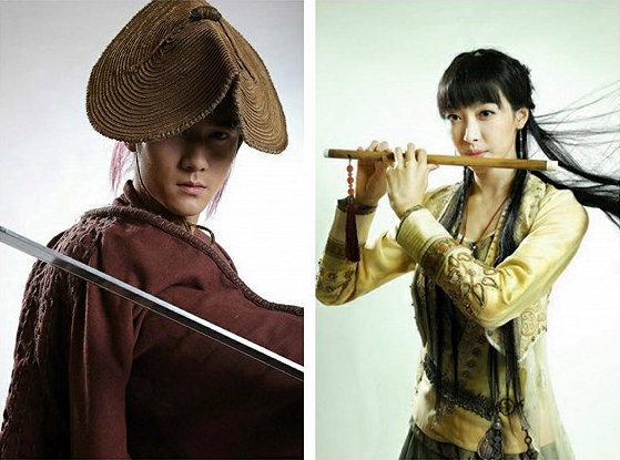 Victoria Song and Jiang Jin Fu in costume for Chinese Paladin 5