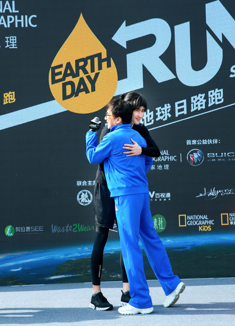 National Geographic Earth Day Run Jackie Chan Vengo Gao