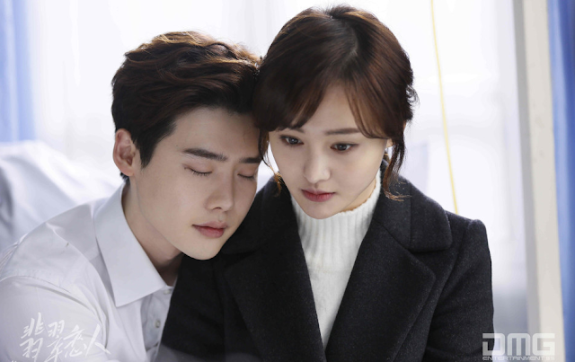 Lee Jong Suk and Zheng Shuang in Jade Lovers