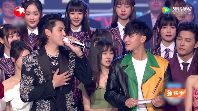 Huang Zitao Kris Wu Share stage New Year Countdown 2018