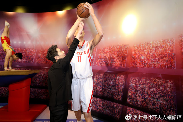Mark Chao celebrity wax figure Shanghai