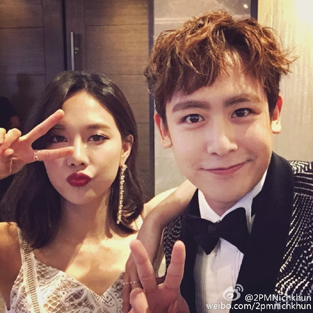Wang Feifei and Nichkhun from 2016