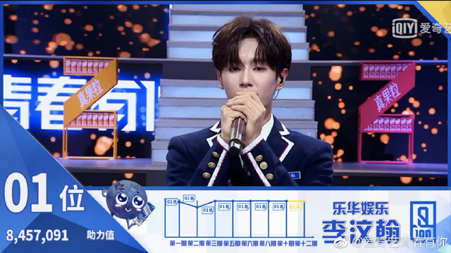 idol producer 2 qing chun you ni winner li wenhan