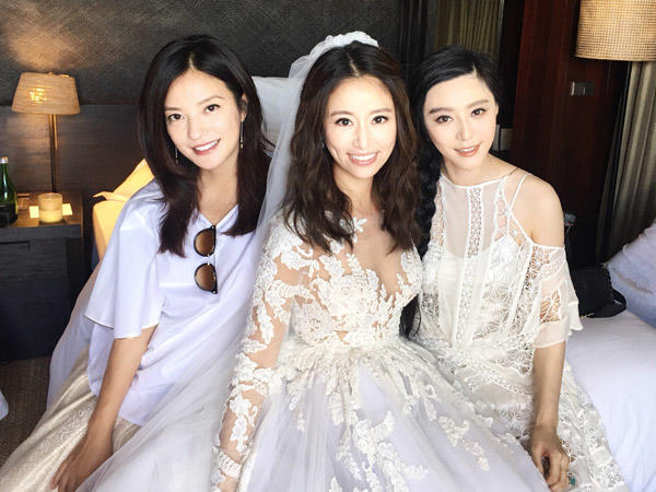 Vicki Zhao Wei, Fan Bing Bing and Ruby Lin at her wedding