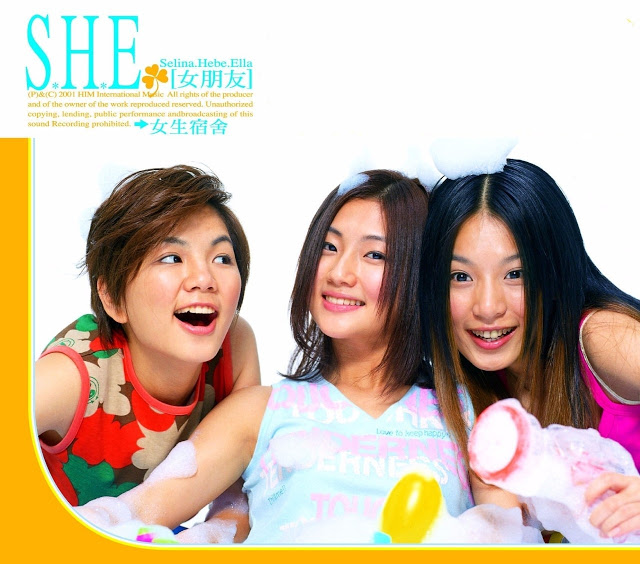 S.H.E. 17 years 2001 first album  Selina, Hebe, Ella