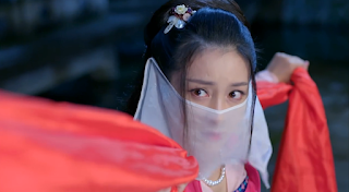Gan Ting Ting in ep1 of martial arts cdrama New Xiao Shi Yi Lang