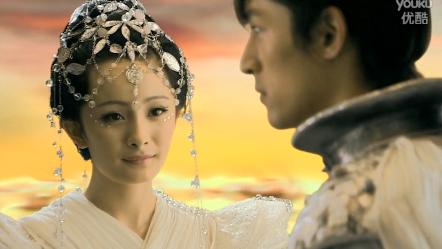 Yang Mi and Hu Ge in popular 2009 cdrama Chinese Paladin 3 (Ep 25)