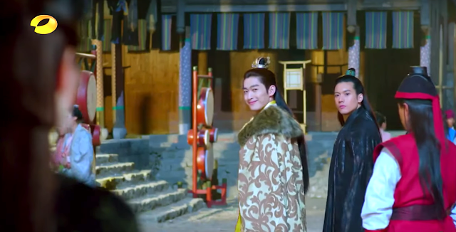 Zhang Han and Kenny Kwan in 2016 c-drama Classic of Mountains and Seas