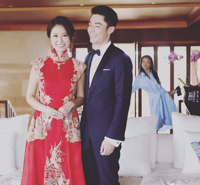 Ruby Lin Wallace Huo wedding qipao