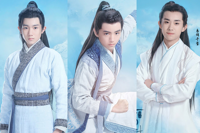 TF Boys as the younger versions of Zhuxian cast