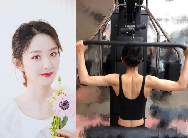 zhao liying hit the gym