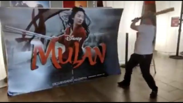 Theater Owner Destroys Mulan Posters
