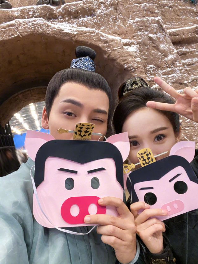 William Chan and Yang Mi Ham It Up for the Camera