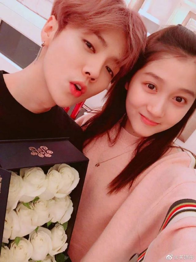 Luhan and girlfriend Guan Xiaotong celebrates his birthday together.