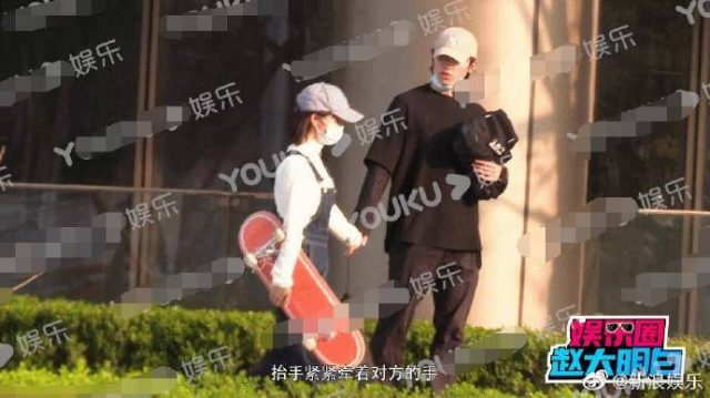 Shen Yue and Sun Ning spotted holding hands