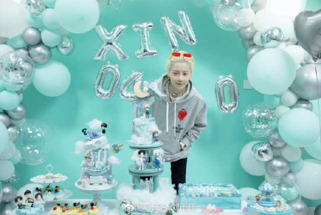 """XIN Liu Celebrates Birthday with """"FOURTRY"""" Cast Mates William Chan and Grace Chow"""