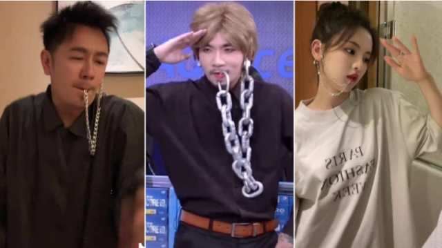 Benny Chan and Yang Chaoyue give the popular Chain Dance challenge a try