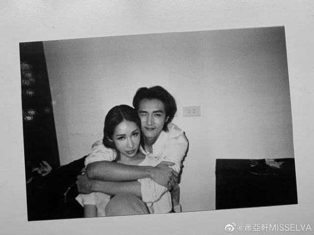 Elva Hsiao and Justine Huang Hao in happier times