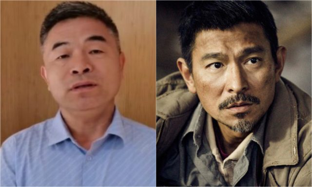 Guo Gangtang and Andy Lau who plays him in Lost and Love